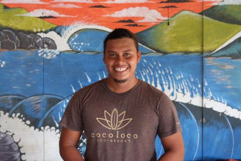 Surf teacher in Nicaragua